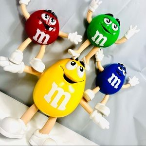 Vintage collectible M&M's Bendy Character's